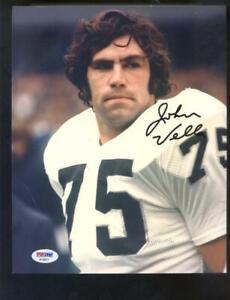 John Vella Oakland Raiders 8x10 Photo Signed Autograph Auto PSA/DNA Football NFL