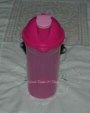 TUPPERWARE FUSCHIA PINK DRINK WATER BOTTLE WITH FLIP LID
