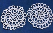 """Antique Primitive Pinwheel Round Doilies for Gone with the Wind Lamps Size 13"""""""