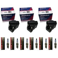 ACDelco Ignition Coil Set (3) + (6) Motorcraft Spark Plugs For 1986-88 Buick V6