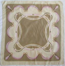 -Superbe Foulard Les MUST DE CARTIER soie  TBEG  vintage scarf  83 x 85 cm