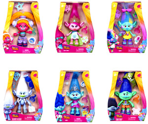 "Trolls Poppy Maddy Bridget Guy Diamond 9 "" Figure Doll - DreamWorks - Hasbro"