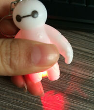 Kawaii Movie Big White Hero Baymax White Plastic Keyring+Light Bag Phone Decor