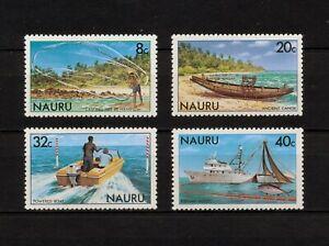 ✔️ (YYBD 079) Nauru 1981 MNH Mich 224 - 227 Scott 227 - 230 Ship Sailboat