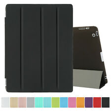 Black Magnetic PU Leather Folio Flip Smart Cover Case Skin for Apple iPad 2 3 4