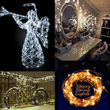 10M 33FT 100 LED Solarbetriebene Warm Weiß Kupferdraht String Fairy Licht Light