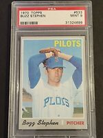 1970 Topps #533 Buzz Stephen - Seattle Pilots - PSA 9 / MINT