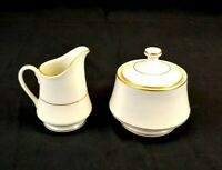 ROYAL LIMITED Golden Ivory Fine China, Creamer and Sugar Set
