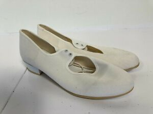 NEW Ladies White Canvas Tap Dancing Shoes size 6  A24