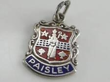 VINTAGE SILVER PAISLEY TRAVEL SHIELD CHARM