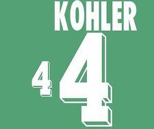 Kohler #4 Deutschland WM 1994 entfernt Fußball Nameset Hemd