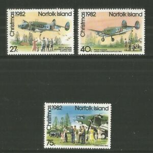 Norfolk Island 1982 Christmas/Airplanes--Attractive Topical (299-301) MNH