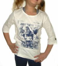 Mädchen-T-Shirts mit U-Ausschnitt aus 100% Baumwolle