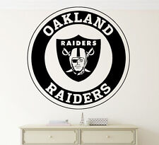NFL Oakland Raiders Wall Decal Vinyl Sticker Football Emblem Sport Home Decor