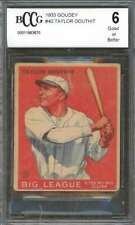 Taylor Douthit Rookie Card 1933 Goudey #40 Reds (Good Or Better) BGS BCCG 6