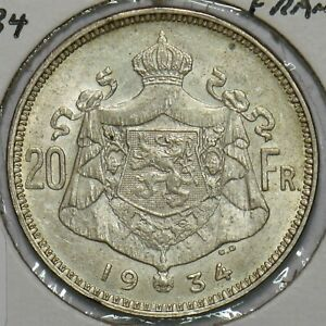 Belgium 1934 20 Francs 240320 combine shipping