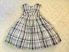 NWT GYMBOREE Très Fabulous Parfait Pink Gem Button Cotton Plaid Dress Girls 4T