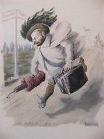 Simili Aquarelle L'oeuvre de Zola 1898 par H Lebourgeois La Débacle 1870 1871