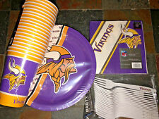 Minnesota Vikings Party Pack, 20 Paper Cups, Plates, Napkins & Forks