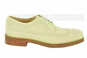 TOD'S SHOES  MENS LOAFERS BUCATURE OXFORD WINGTIPS FONDO LIGHT 6 / US 7 / 39