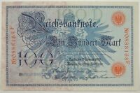 1908 100 (Ein Hundert) Mark Reichsbanknote Germany SN#0888168F CU/UNC   (080518)