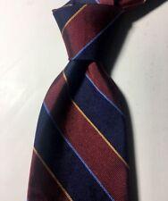 Brooks Brothers Irregular 100% Silk Red Blue Striped Necktie Tie NWOT