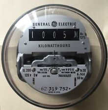 Ge Watthour Kwh Meter, V-612-S, Form 12S, Network, 5 Lugs, 2 Stator, Ez Read,