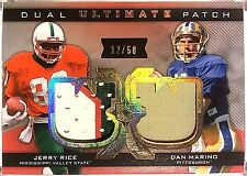 2013 Ultimate Collection JERRY RICE DAN MARINO 12/50 DUAL Ultimate PATCH UJ2-RM