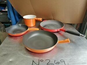 """NO269 LE CREUSET PANS  """"PLEASE MAKE OFFERS ON EACH ONE"""""""
