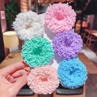 Women Girls Elastic Glow Scrunchie Hair Band Rope Ponytail Holder Rubber Bands
