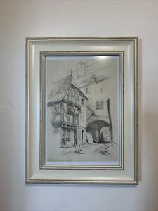 Pencil Drawing Of Street Scene