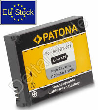 Replacement battery for GoPro HD Hero, Hero1,2; AHDBT-001, AHDBT-002, ABPAK-001