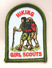 HIKING Girl Scout Patch Badge Hiker Outdoors Friendship Camping NEW Multi=1 Ship