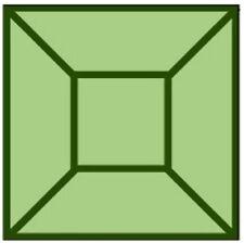 Colored Bevels - 2x2 Bevels-Box of 30 - GREEN