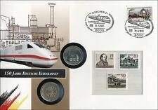 D-150 DDR-Numisbrief 150 Jahre Eisenbahn