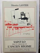 SAINT LO DANS LE CREPUSCULE DE L'ANCIEN REGIME TOME 30 1988 MAURICE LANTIER