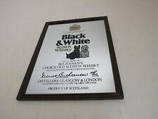 Miroir publicitaire Black & White Scotch whisky Buchanan's blend 25x32,6 cm