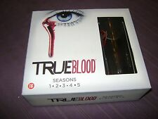 COFFRET DVD SERIE TV TRUE BLOOD SAISON 1 A 5 + VERRE COLLECTOR BOX NEUF