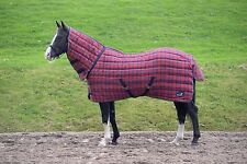 Masta Stable Rug Quiltmasta 350g Fixed Neck Red/navy Check 6' 3""
