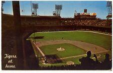 1969 PM Detroit Tigers at Home Inside Tiger Stadium Postcard PC 82301-B
