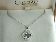 Clogau Silver & Rose Gold Tudor Court Mother of Pearl & Topaz Pendant RRP £119