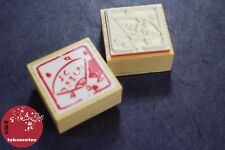 TAMPON BOIS FEUILLES SCRAPBOOKING JAPON MADE IN JAPAN UNIQUE STAMP RUBBER NEW