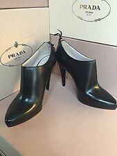 New Miu Miu by PRADA Black Fashion Women's Ankle Boots Shoes Size 39.5 9.5