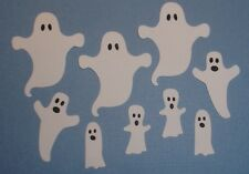 12 GHOST DIE CUT EMBELLISHMENTS ~ HALLOWEEN ~ FULLY ASSEMBLED SPOOKY GHOSTS CARD
