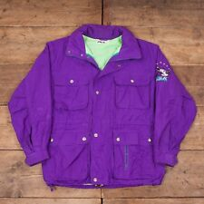 "Mens Vintage Fila Everest Ice Fall 1990s Purple Polyester Jacket XL 50"" R6037"