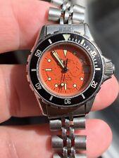 Vintage TAG HEUER Orange Dial 980.011.19820 Dive Watch 200mm ladies 100%Original