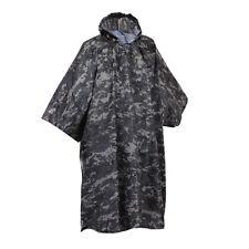 US Army Military Subdued Urban City Gray Digital Camo Rain Coat Camping Poncho