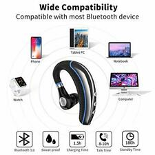 Bluetooth Headset Wireless Earpiece V5.0 Ultralight Hands Free Earphone with Mic