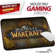 TAPPETINO MOUSE PAD Gaming 21x28 cm ANTISCIVOLO NANOGRIP World of Warcraft WOW