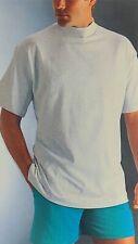 Vintage Bvd Mock Turtleneck T Shirt Men's Gray Xl Single Stitched Cotton Usa Nos